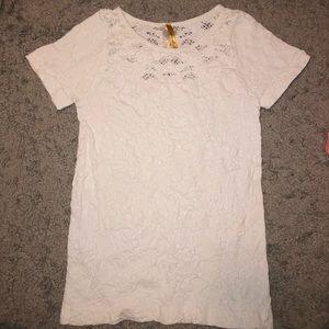 White Lace Kids Shirt